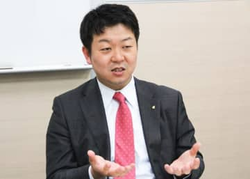 """Iris Ohyama Inc. President Akihiro Oyama speaks in Taipei on Oct. 22, 2019 as his company starts a Taiwan subsidiary. """"Taiwan is ideal as a test market,"""" says Oyama, also the new unit's chairman."""