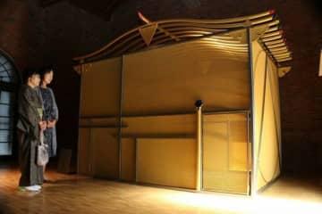 出江氏が設計した移動式茶室