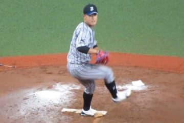 「第45回社会人野球選手権大会」に先発したJFE西日本・河野竜生【写真:安藤かなみ】