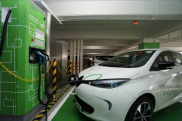 A charger for e-vehicles. Photo: CLP Power.