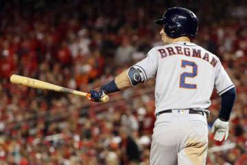 満塁弾を放ったアストロズのアレックス・ブレグマン【写真:Getty Images】