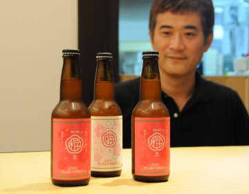 「松屋」が今月発売した城州白を使ったクラフトビール(城陽市寺田東ノ口・旅籠屋利兵衛)