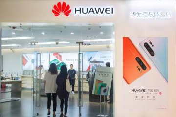 A Huawei store in Beijing on Sept. 28, 2019. (Image credit: TechNode/Coco Gao)