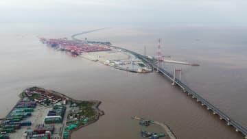 空から見た上海自由貿易試験区