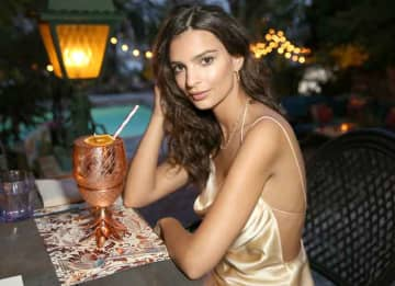 LOS ANGELES, CA - JUNE 10: Actress/Model Emily Ratajkowski's celebrates her 25th birthday at the private residence of Absolut Elyx CEO Jonas Tahlin on June 10, 2016 in Los Angeles, California.