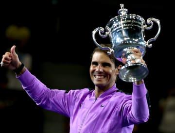 写真は「全米オープン」で優勝したナダル