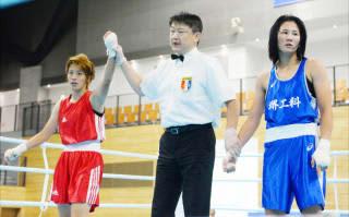 初の公式戦となった全日本女子選手権で勝利した松田玲奈