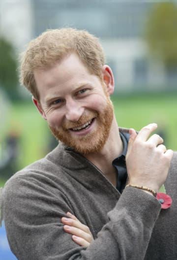 英ヘンリー王子=29日、ロンドン(ゲッティ=共同)
