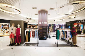 ビームスが出店している高島屋ショッピングセンター内のポップアップストア(同社提供)