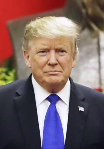 米国のトランプ大統領(AP=共同)