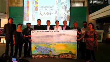 中比芸術家合同絵画展(中国会場展)開幕 広東省深圳市