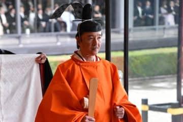 皇嗣として儀式に臨まれた秋篠宮さまのご表情は終始険しかった。(写真:内閣府)