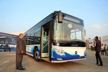 北汽福田汽車、エジプトに第1陣の電気バスを引き渡し