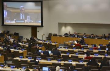 人権問題について討議する国連総会第3委員会=10月30日、米ニューヨークの国連本部(共同)