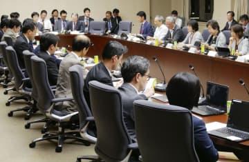 台風15号による大規模停電を検証する有識者作業部会=31日午後、経産省