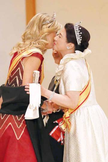 饗宴の儀での雅子さまとマキシマ王妃