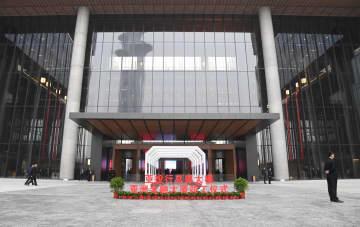 AIIB本部ビル、来年初めに供用開始