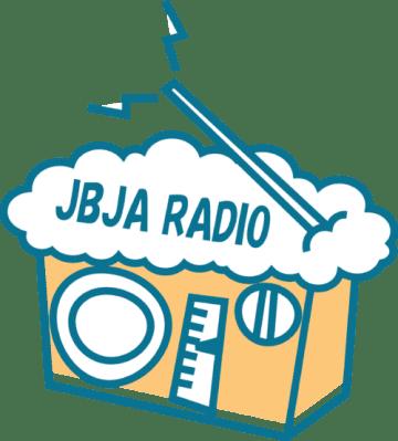 JBJA RADIOのロゴ。泡多めです。