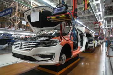 上汽VWの新エネ車生産ライン 上海市嘉定区