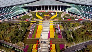 空から見た上海国家会展中心