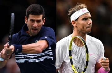 「ATP1000 パリ」でのジョコビッチ(左)とナダル(右)