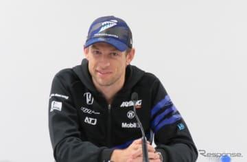 SUPER GT参戦終了に際し、会見に臨んだジェンソン・バトン。