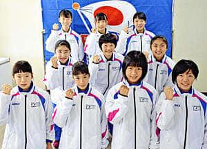活躍を誓う本県選手団の選手たち