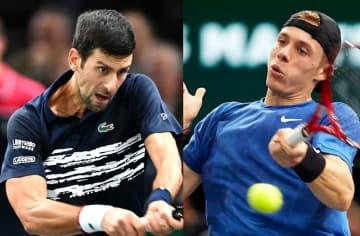 「ATP1000 パリ」でのジョコビッチ(左)とシャポバロフ(右)