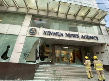 香港の暴徒、新華社アジア太平洋総局を襲撃