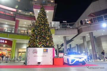 EVでクリスマスツリー点灯中…東京モーターショー2019コラボ企画