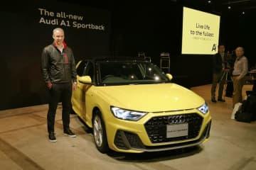 新型A1をプレゼンテーションしたアウディ・ジャパンのフィリップ・ノアック社長