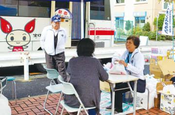 大船で鎌倉ライオンズクラブが恒例の「献血活動&骨髄ドナー登録呼びかけ」