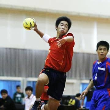 【ハンドボール男子決勝・小林―祝吉】11点を挙げた小林の下村主将=綾町綾てるはドーム