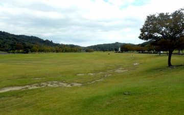 滋賀県がラグビー会場として再整備を計画している県希望が丘文化公園の芝生エリア