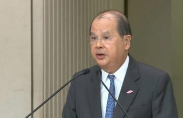 Chief Secretary Matthew Cheung on November 5. Photo: RTHK screenshot.