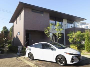 防災や減災機能を充実させたトヨタホームのモデルハウス=5日午後、愛知県豊田市