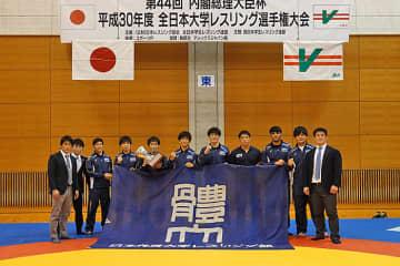昨年、全日本大学グレコローマン選手権に続いて優勝した日体大。今年は三冠制覇へ挑戦