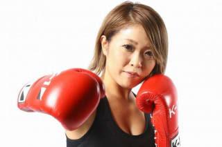 """キックとボクシングの両方でベルトを巻いた""""立ち技の申し子""""山田真子。K-1女子がますます面白くなってきた(C)M-1 Sports Media"""