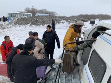 黒竜江省同江市とロシアつなぐホバークラフト旅客輸送始まる