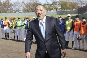 野球のイベントに参加した清原和博さん=7日、横浜市