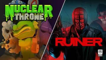 サイバーパンク暴力アクション『RUINER』とローグライクシューター『Nuclear Throne』がEpic Gamesストアで無料配信中、現地時間11月15日までの期間限定