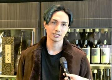 越前福井フェアについて説明する橘ケンチさん=11月5日、東京都目黒区の「LDH kitchen IZAKAYA AOBADAI」