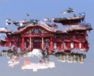みんなの首里城デジタル復元プロジェクトの特設サイトで公開された3Dモデルのサンプル画像