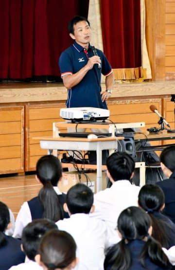 ボートの武田選手が五輪に出場した際の経験などを語った講演会