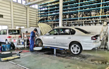 Undated photo shows a Japanese car dismantling firm under a tie-up deal with Toyota Tsusho Corp., a trading arm of the Toyota Motor Corp. group. (Photo courtesy of Toyota Tsusho)