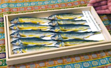 大嘗祭に献物として供納される干しアユ(京都市下京区・辻為商店)