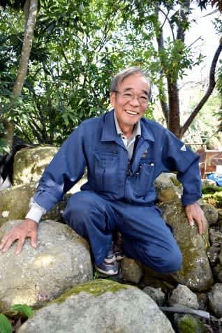 現代の名工に選ばれた庭師の石走豊稔さん=薩摩川内市御陵下町