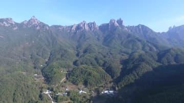 空から見た九華山獅子峰