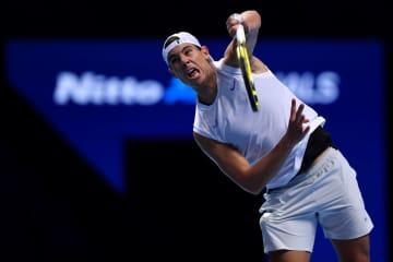 「Nitto ATPファイナルズ」大会前練習時のナダル