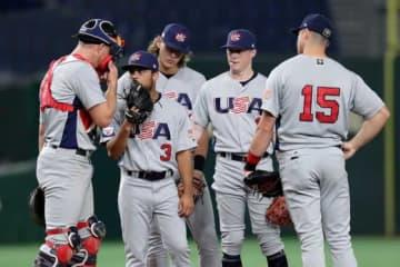 スーパーラウンド初戦で韓国に敗れたアメリカ代表【写真:Getty Images】
